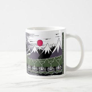 山および木 コーヒーマグカップ