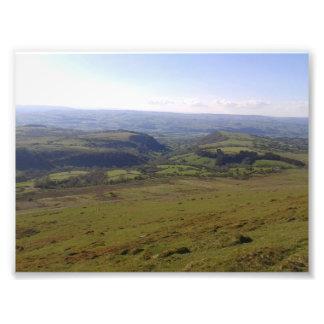 山および田舎 フォトプリント