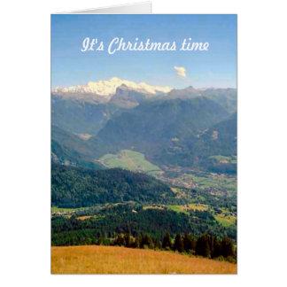 山でMt Blancの範囲に近づいて下さい カード