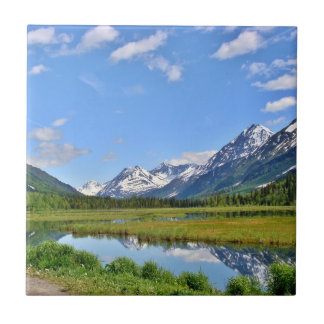 山のアラスカの景色タイル タイル