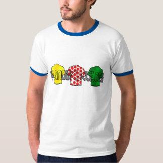 山のジャージー黄色い緑のジャージー王 Tシャツ