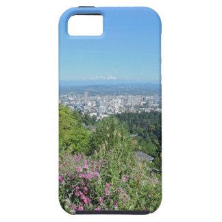 山のフードとのポートランドスカイライン iPhone SE/5/5s ケース
