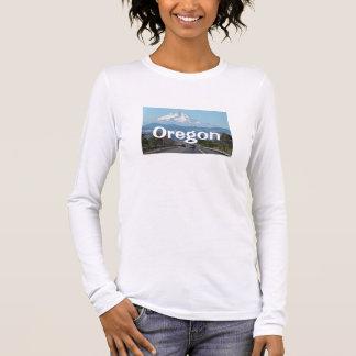 山のフード、オレゴンのワイシャツ 長袖Tシャツ
