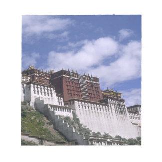 山のポタラ宮Dalaiの家 ノートパッド