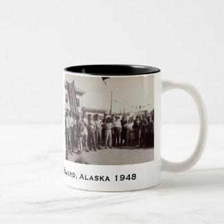 山のマラソン1948 ツートーンマグカップ