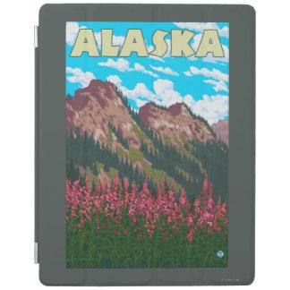 山のヴィンテージ旅行ポスターを持つFireweed iPadスマートカバー