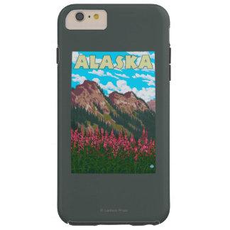 山のヴィンテージ旅行ポスターを持つFireweed Tough iPhone 6 Plus ケース