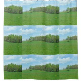 山の上の干し草分野 シャワーカーテン