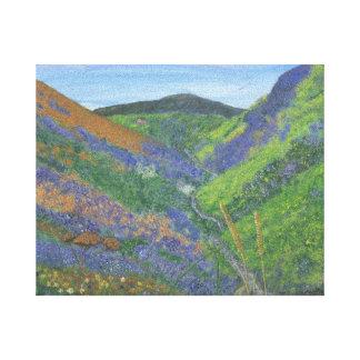 山の優れたキャンバスの春時間 キャンバスプリント