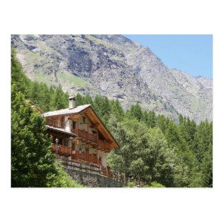 山の別荘の郵便はがき ポストカード