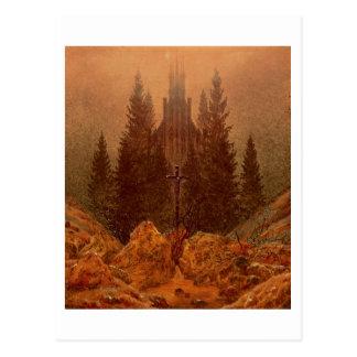 山の十字、1812年(キャンバスの油) ポストカード