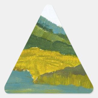 山の反射 三角形シール