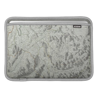 山の地図 MacBook スリーブ