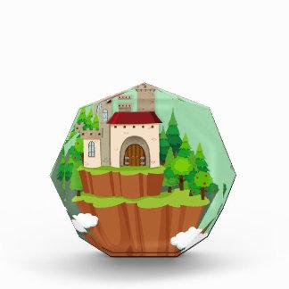 山の城の建物 表彰盾