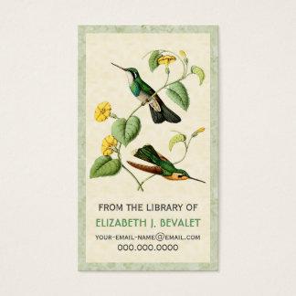 山の宝石のハチドリ名前入りな媒体カード 名刺