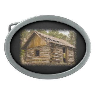 山の小屋2 卵形バックル