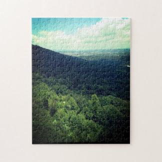 山の崖 ジグソーパズル