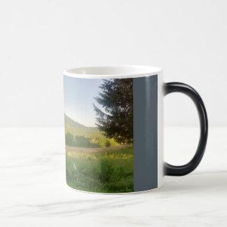 山の日の出 マジックマグカップ