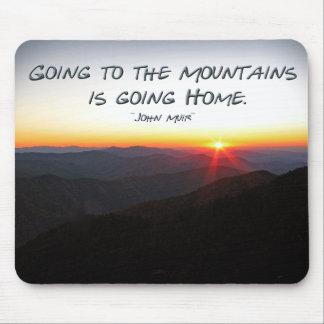 山の日没星形/ジョンMuirの引用文 マウスパッド