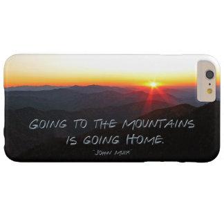 山の日没星形/ジョンMuirの引用文 Barely There iPhone 6 Plus ケース