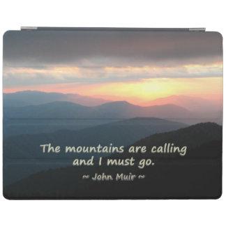 山の日没: Muirのテンプレートを呼ぶMtns iPad カバー