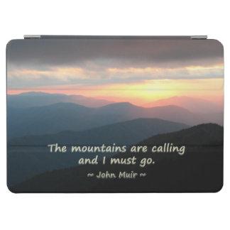 山の日没: Muirのテンプレートを呼ぶMtns iPad Air カバー