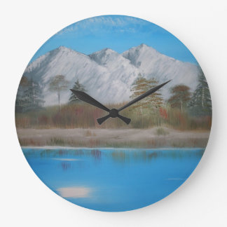 山の時計 ラージ壁時計