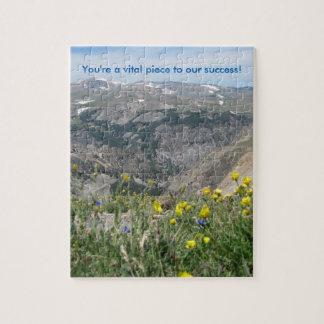 """山の景色のパズル- """"あなたは重大な部分"""" ジグソーパズル"""