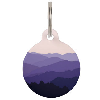 山の景色のペット用名札 ペット ネームタグ