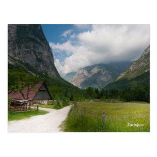 山の景色の写真の郵便はがき。 スロベニア ポストカード