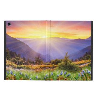 山の景色の威厳のあるな日没 iPad AIRケース