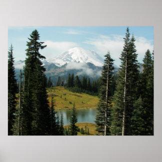 山の景色 ポスター