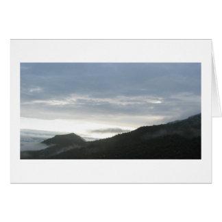 山の朝 カード