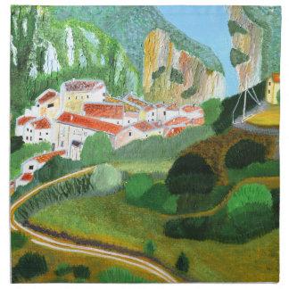 山の村 ナプキンクロス