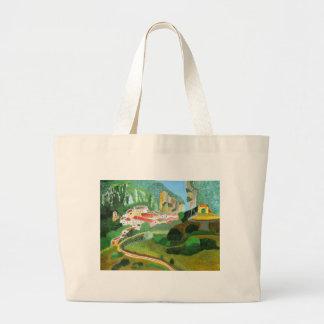 山の村 ラージトートバッグ