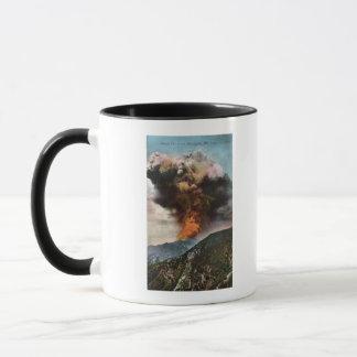 山の森林火災の眺め マグカップ