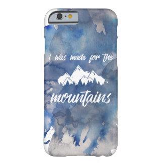 山の水彩画のiPhoneの例のために作られる Barely There iPhone 6 ケース