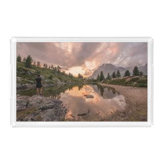 山の池の皿 アクリルトレー