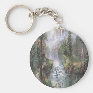 山の滝のキーホルダー キーホルダー