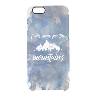 山の澄んな水彩画のiPhoneのために作られる クリアiPhone 6/6Sケース