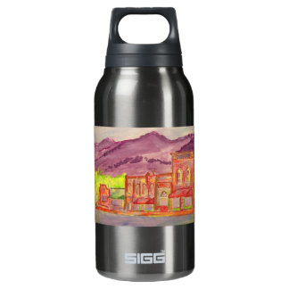 山の町の芸術 断熱ウォーターボトル