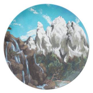 山の蒸気 プレート