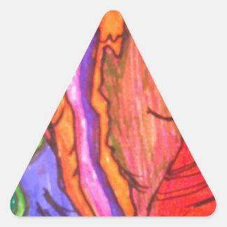 山の薄暗がり 三角形シール