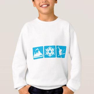 山の薄片のスキー スウェットシャツ