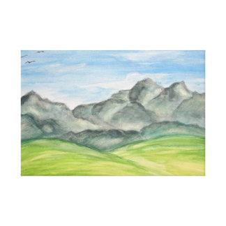 山の谷のキャンバスのプリント キャンバスプリント