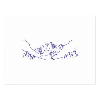 山の輪郭 ポストカード