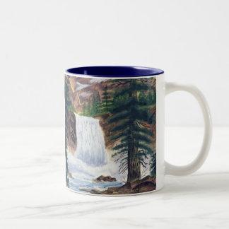 山の退去 ツートーンマグカップ