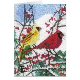 山の雪の基本的な組 カード
