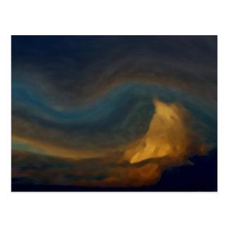 山の雲 ポストカード