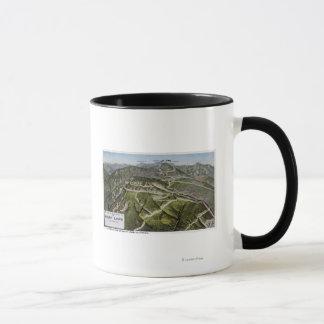 山の鳥瞰的な眺め マグカップ